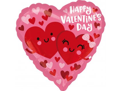 Fóliový balón - Happy Valentine's Day srdce
