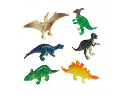 Figúrky Šťastný dinosaurus 8 ks