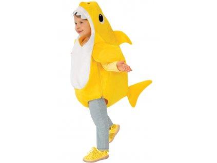 Detský kostým Baby Shark - žltý