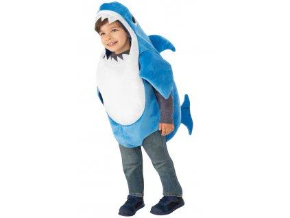 Detský kostým Baby Shark - modrý