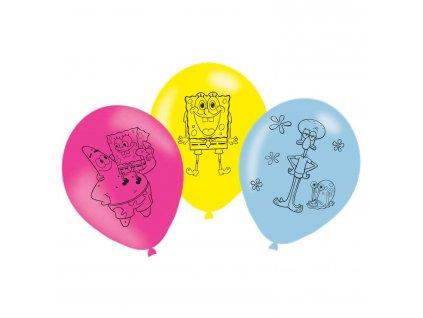 Latexové balóny Spongebob 6 ks