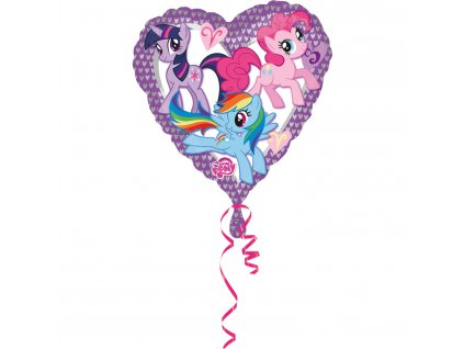Foliový balón - My Little pony srdiečko 43 cm