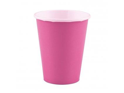 Svetlo ružové poháre 8 ks