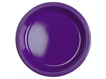 Plastové taniere - fialové 10 ks