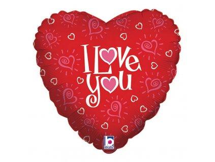 Fóliový balón - I love you srdce