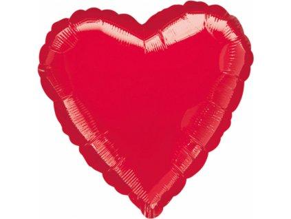 Fóliový balón - srdce červené
