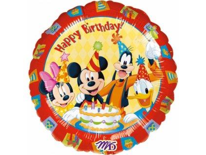 Fóliový balón - Happy birthday Mickey