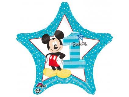 Foliový balón - Prvé narodeniny Mickey