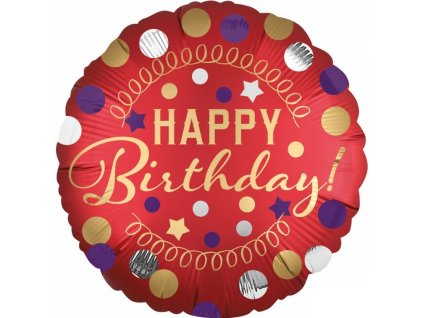 53651 foliovy balon happy birthday cerveny