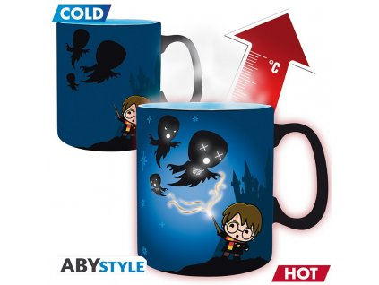 harry potter mug heat change 460 ml expecto with box x2