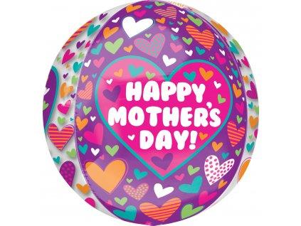 Fóliový balón so srdiečkami - Deň Matiek