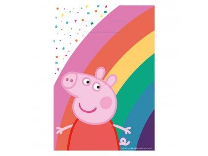 Darčekové tašky - Peppa Pig 8 ks 23,4 x 16,2 cm