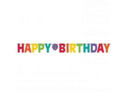 Banner Happy Birthday - dúhový 320 cm