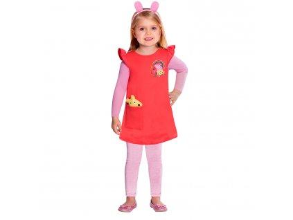 Detský kostým červený - prasiatko Peppa