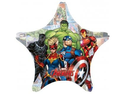 Fóliový jumbo balón hviezda - Avengers 71 cm