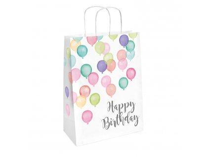 Darčekové tašky - Happy Birthday pastelové 2 ks