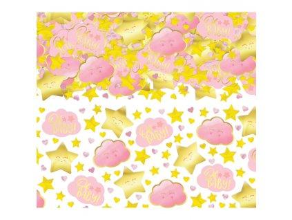 Konfety - Oh baby ! ružové, zlaté