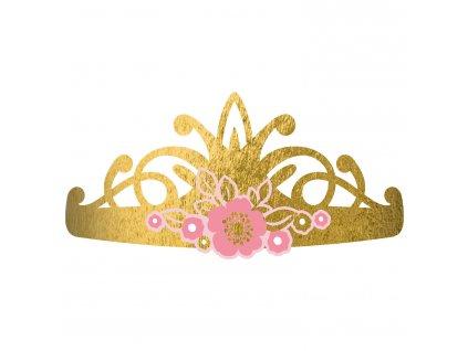 Zlaté korunky - Princess/Labuť 8 ks