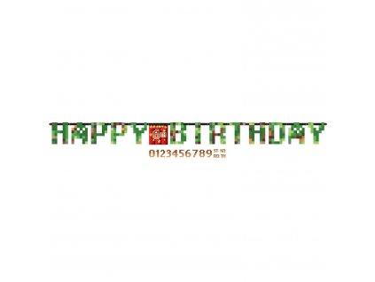 Banner Minecraft - Happy Birthday