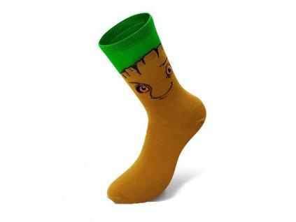 marvel socks brown green groot 3