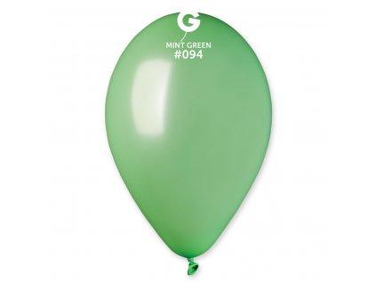Balón metalický mätovo zelená 26 cm