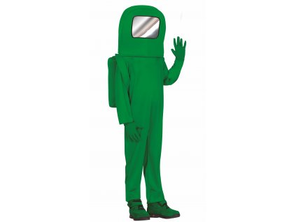 Detský kostým - Among Us zelený