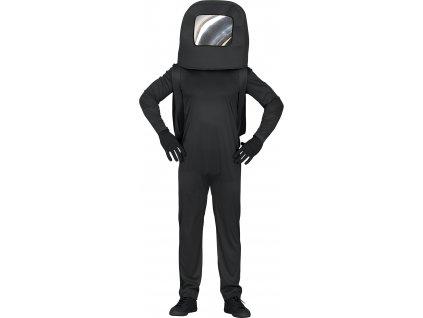 Detský kostým - Among Us čierny