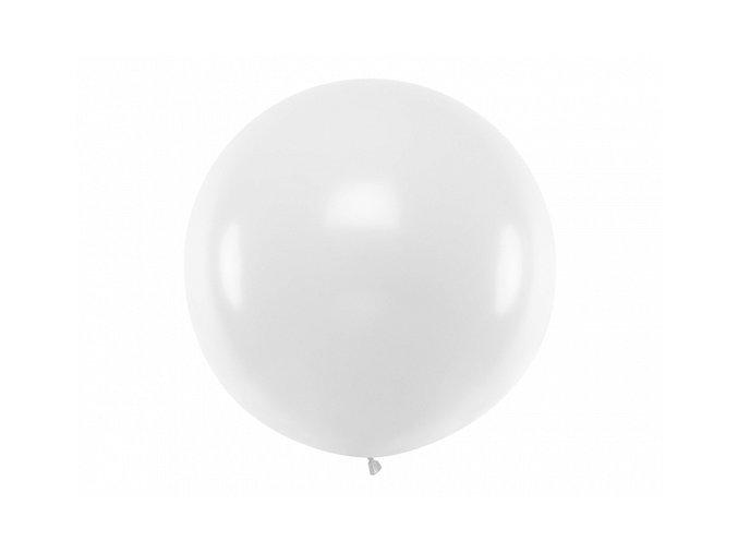 Guľatý latexový Jumbo balón 1m biely