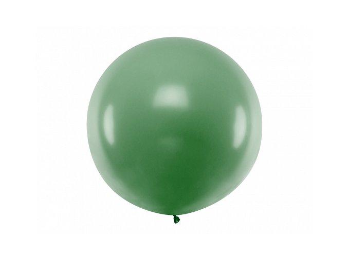 Guľatý latexový Jumbo balón 1m tmavozelená