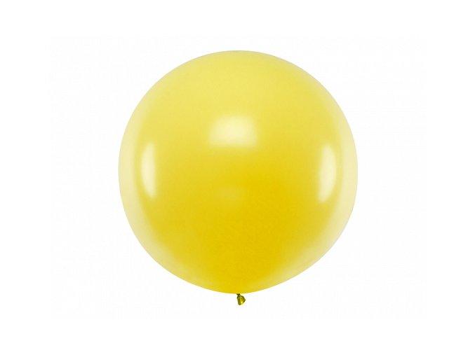 Guľatý latexový Jumbo balón 1m žltý