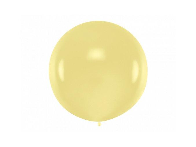 Guľatý latexový Jumbo balón 1m vanilka