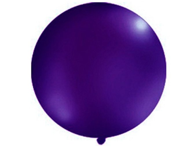 Gulatý latexový Jumbo balón 1m fialová