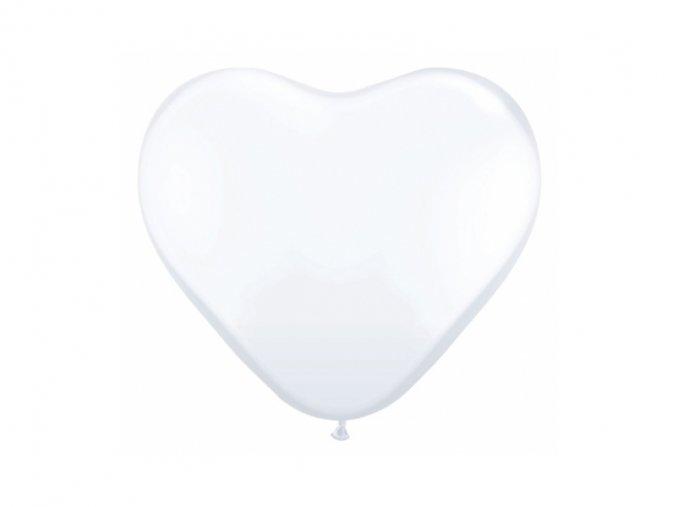 Balónik biely srdiečko
