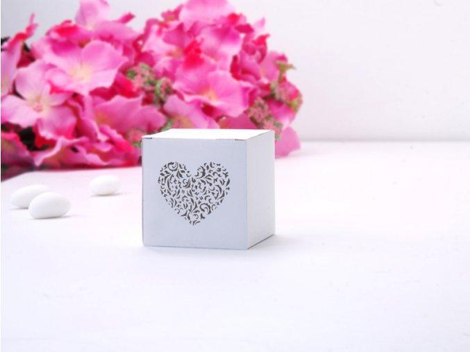 Krabička s vyrezávaným srdcom Ornament
