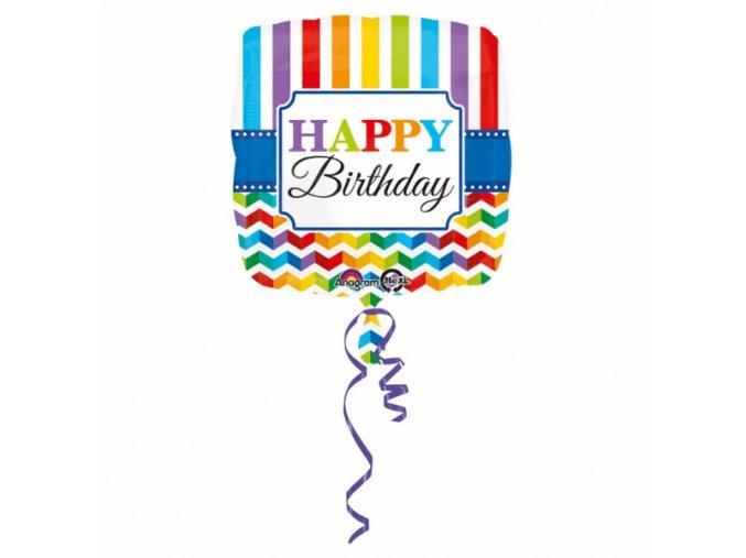 Fóliový balón Farebné narodeniny 43 cm