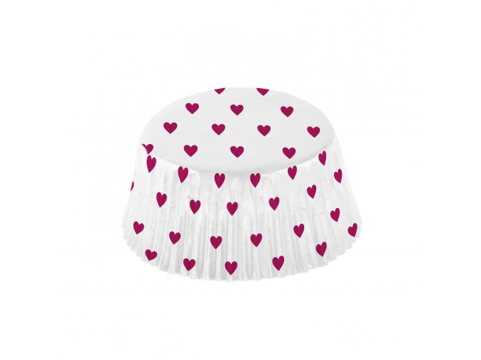Srdiečkové košíčky na cupcakes 48 ks