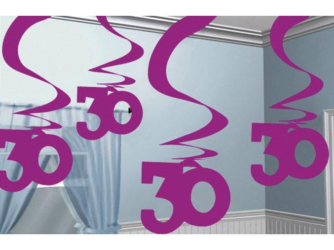 Dekorácia Víry 30.narodeniny ružové