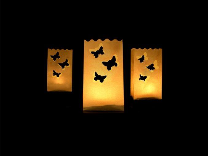 Papierové lampióny - motýle 10 ks
