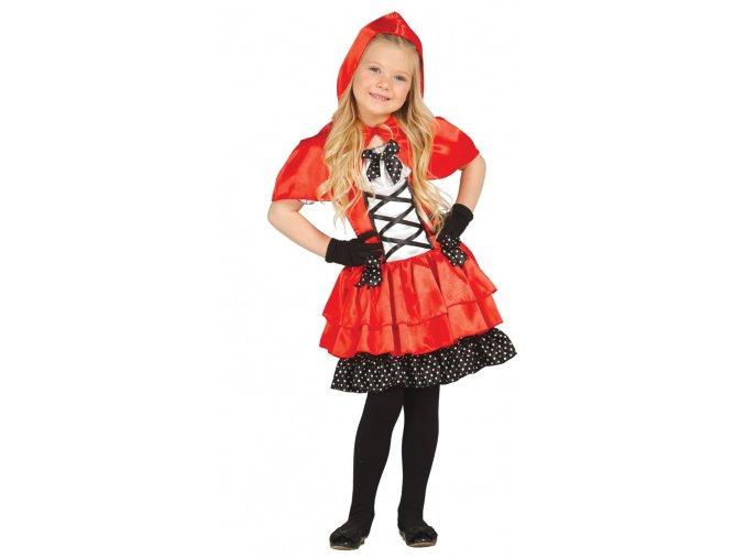 Karkulka - detský kostým (Veľkosti 10-12 rokov (výška 142-148cm))