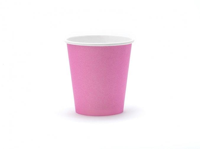 Ružové poháriky 6 ks
