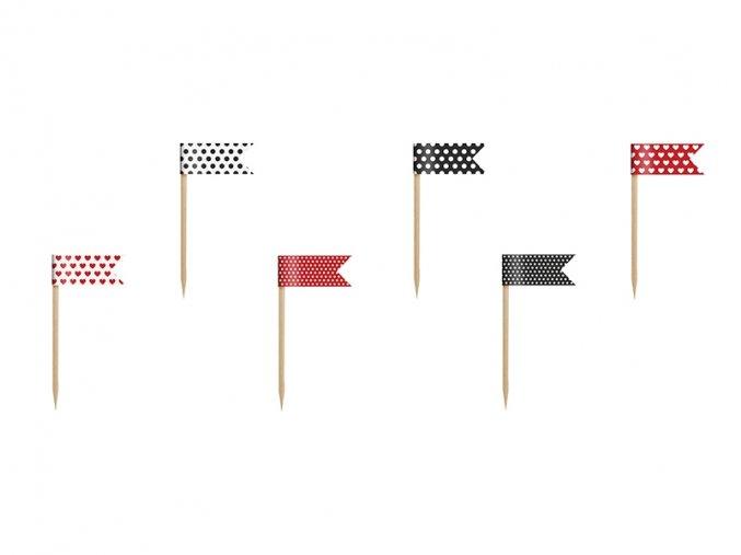 Mini vlajky na cupcakes - Lienka 6 ks