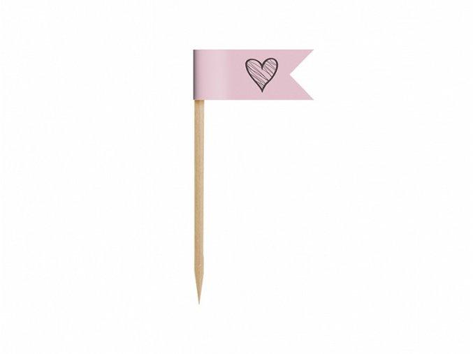 Mini vlajky na cupcakes - Sladkosti 6 ks
