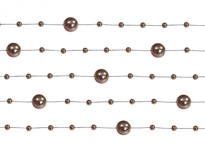 Perlové girlandy hnedé