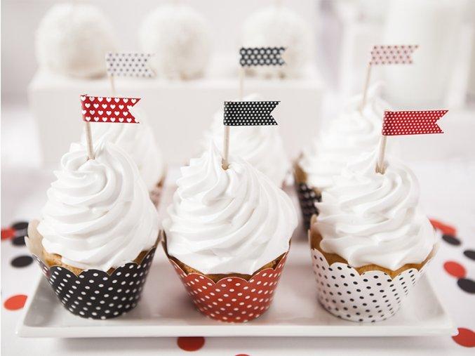 Košíčky na muffiny - Lienka 6 ks