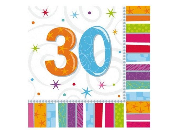 Servítky 30. narodeniny 16 ks