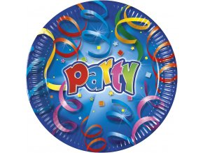 PARTY STREAMERS PLATE 23cm ICON
