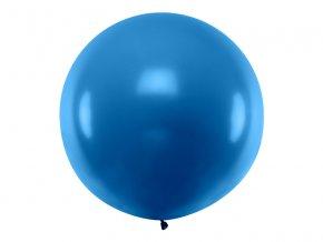 Guľatý latexový Jumbo balón 1m námornická modrá