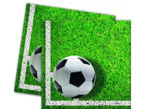Servítky Futbal zelené 33 x 33 20 ks