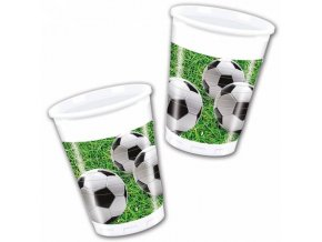 Poháre Futbal 8 ks zelené