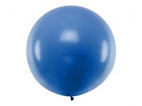 Guľatý latexový Jumbo balón 1m modrá
